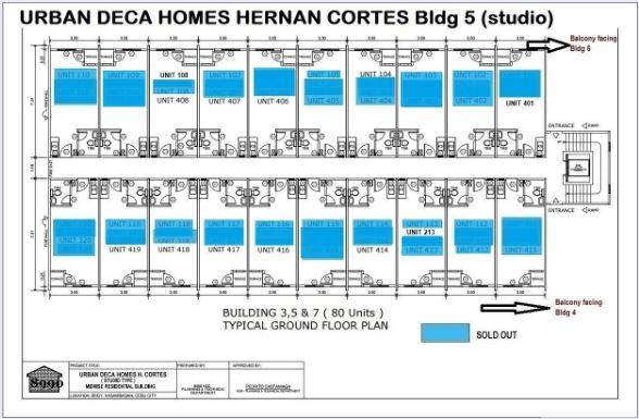 Urban Deca Homes Hernan floor plan bldg 5 june 2019