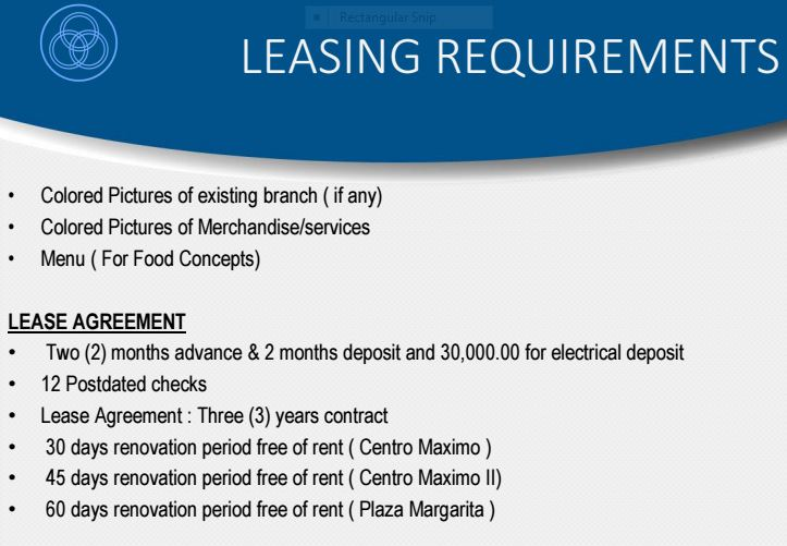 Boromeo leasing requirements 3
