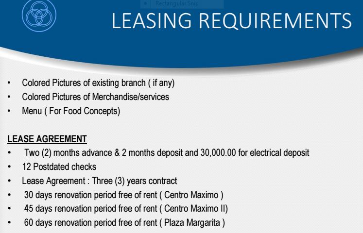 Boromeo leasing rrequirements 2
