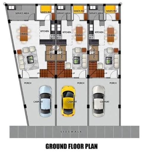 Cloverleaf floor plan q. dona maria ground