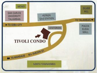 Trivoli location map