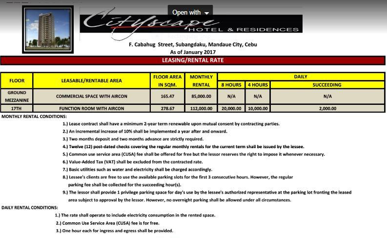 Cityscape rental 1