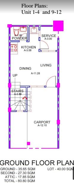 Mabolo Houe & Lot floor plan 1