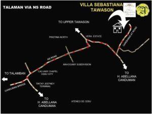 Villa Sebastiana location map