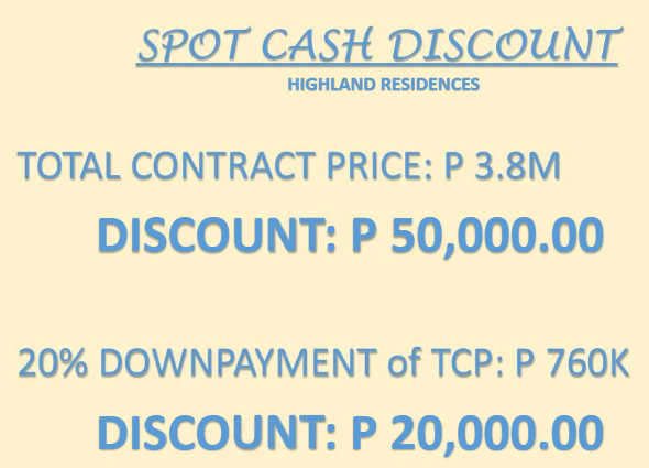 Highland Residences discount
