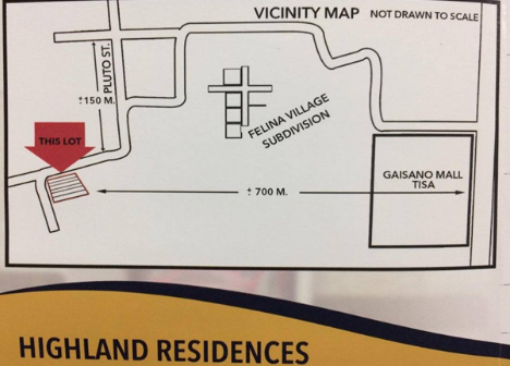 Highland Residences location map