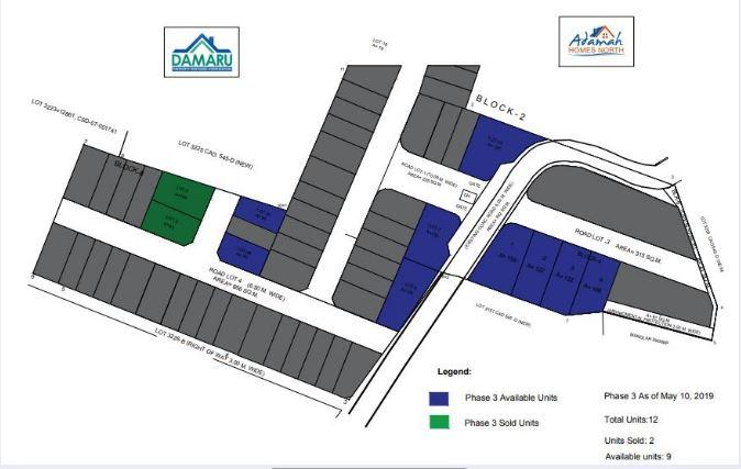 Adama Homes map may 2019