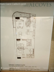 Alcoves Condo floor plan 2 bdrm