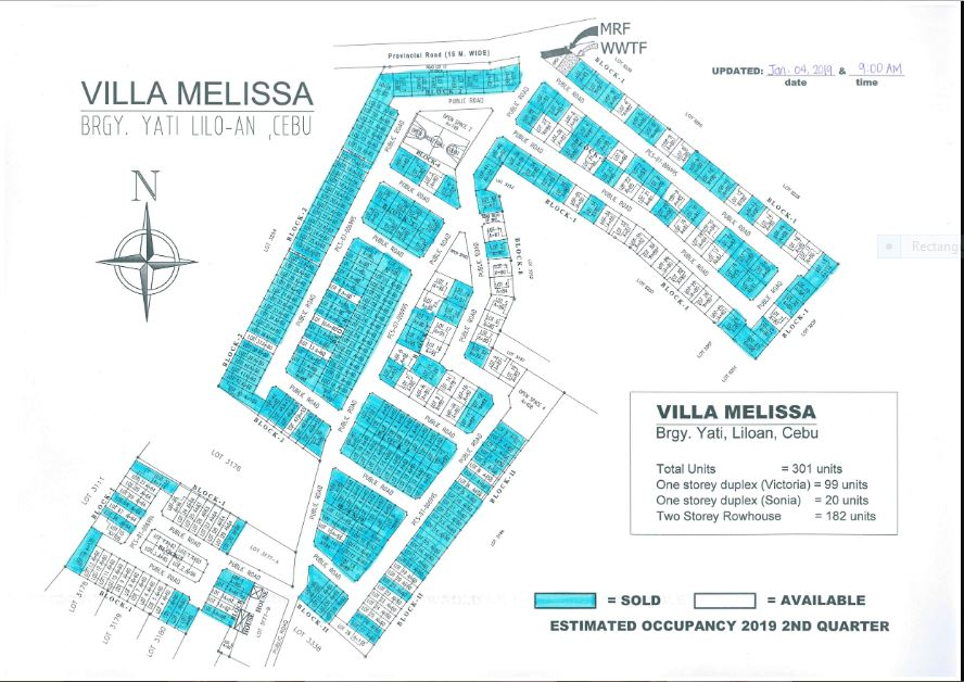 Villa Melissa map jan. 10,2019