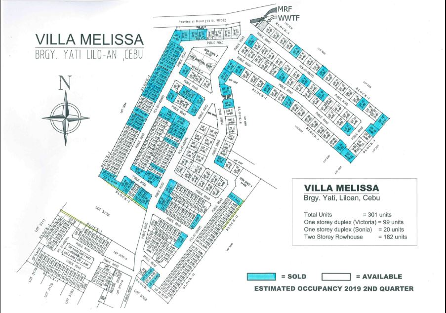 Villa Melissa updated map May. 2018