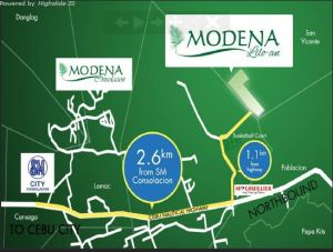 Modena Liloan Vicinity map