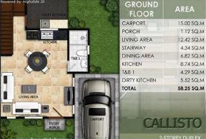 Modena Town Square callisto floor plan 1