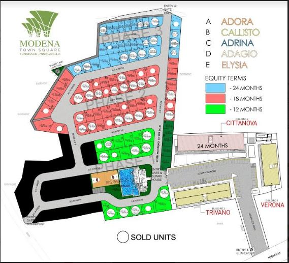 Modena Town Square map march 2019