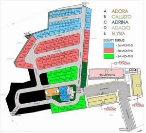 Modena Town Square subdivision map