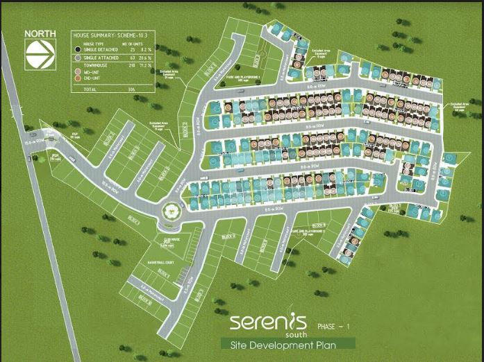 Serenis South map Aug. 2018