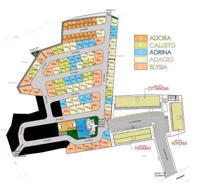 Modena Town Square Vicinity map Aug. 2018