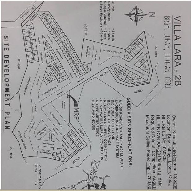 Villa Lara 2B map