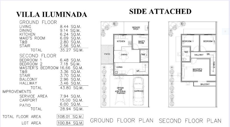 Villa Iluminada single attached floor plan