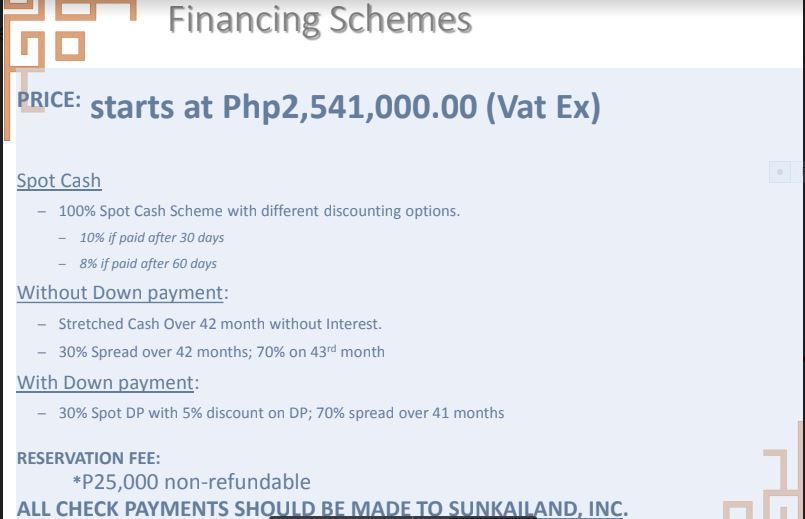 Sun Park Royal Financing Scheme 1