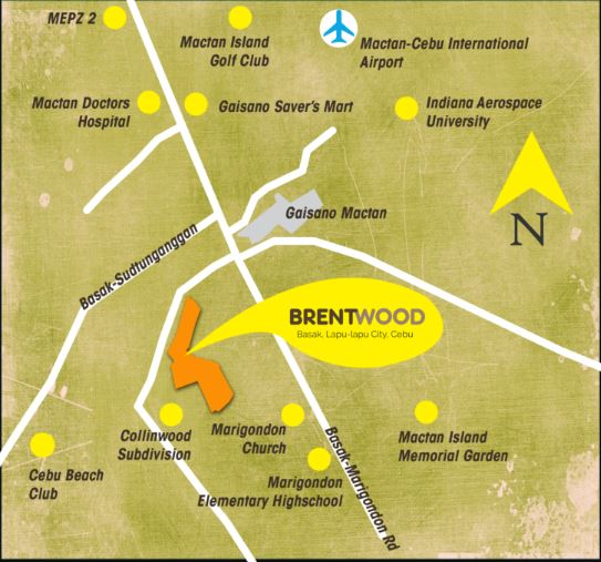 Brentwood Condo vicinity map