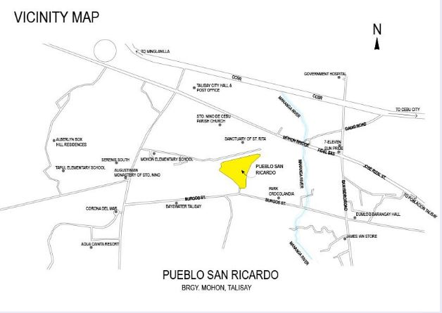 MLD Pueblo San Ricarod Vicinity map