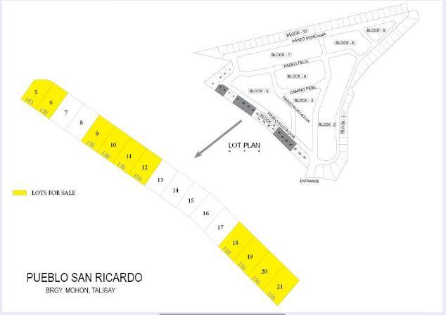 MLD San Ricardo Subdivision map