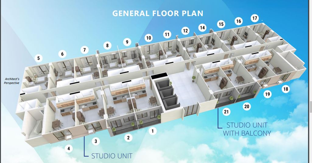 Mactan Plains Residences studio floor plan