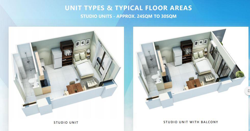 Mactan Plains Residences studio typical floors