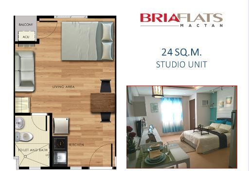 Bria Flats studio floor plan