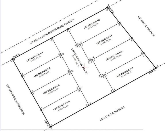 North Side subdivision map