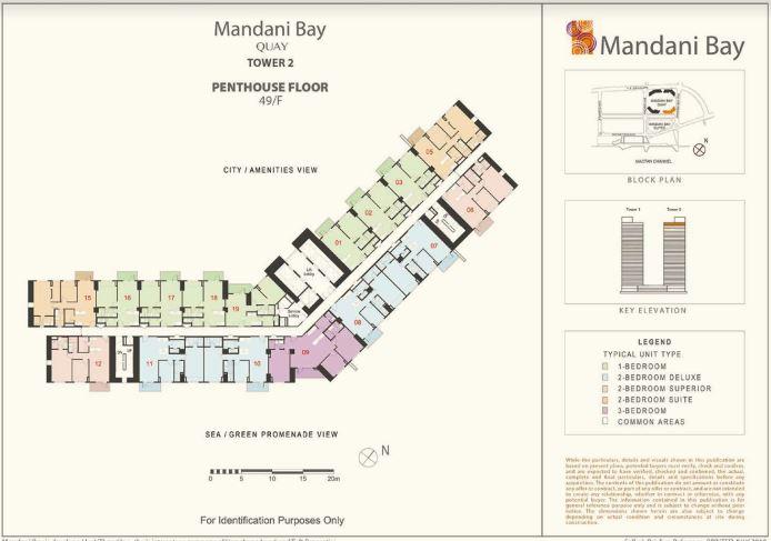 Mandani Bay Quay Penthouse lay out Tower 2