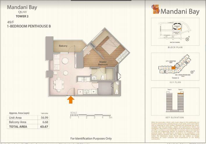 Mandani Bay Quay lay out penthouse B Tower 2