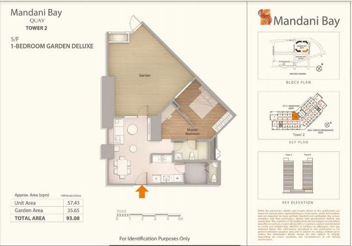 Mandani Bay Tower 2 1 bedroom de luxe floor plan