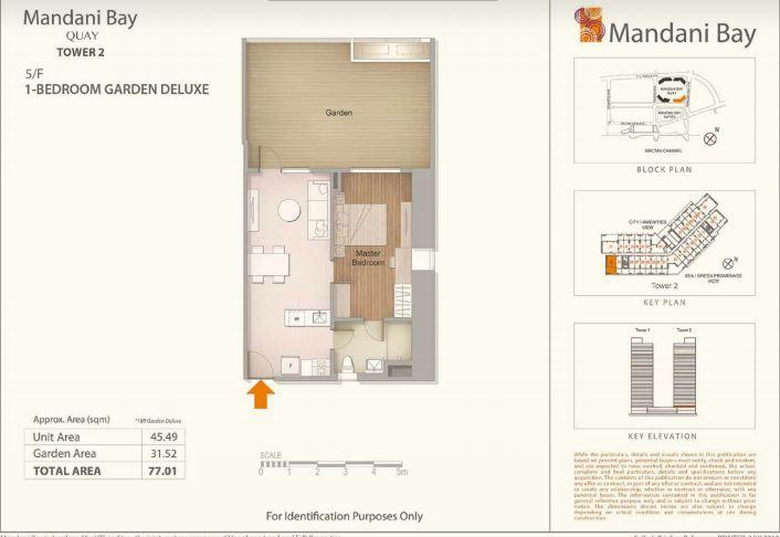 Mandani Bay Tower 2 Garden de luxe lay out