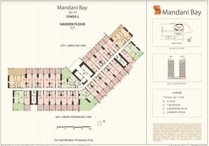 Mandani Bay Tower 2 Garden layout