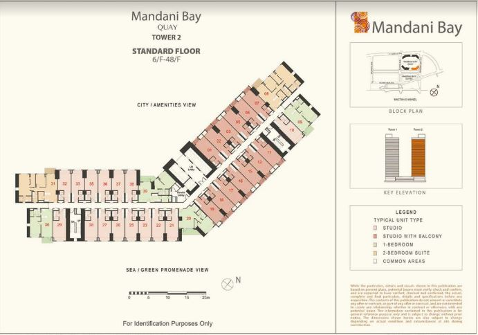 Mandani Bay Tower 2 Standars Floor lay out