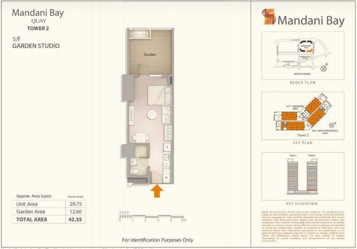 Mandani Bay Tower 2 Studio lay out