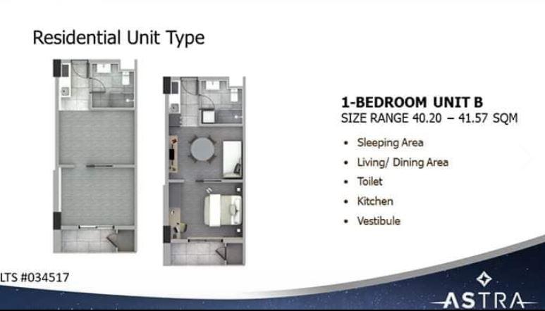 Astra 1 bedroom floor plan B