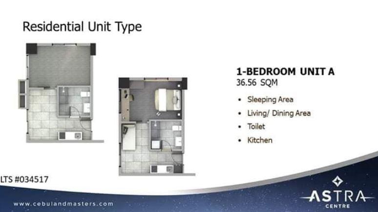 Astra 1 bedroom floor plan