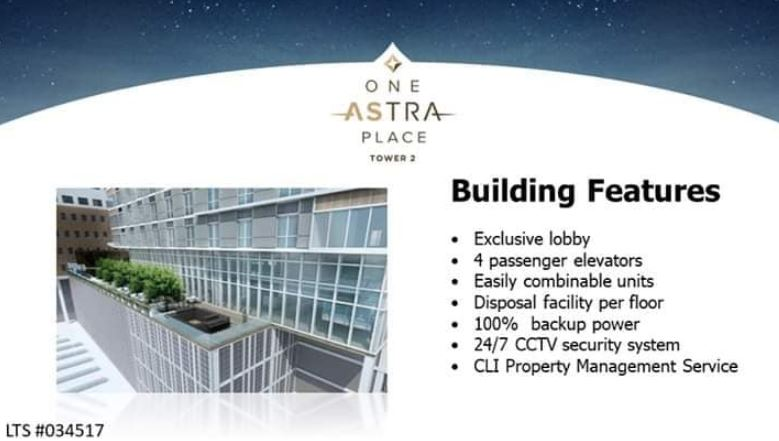 Astra Bldg. Features