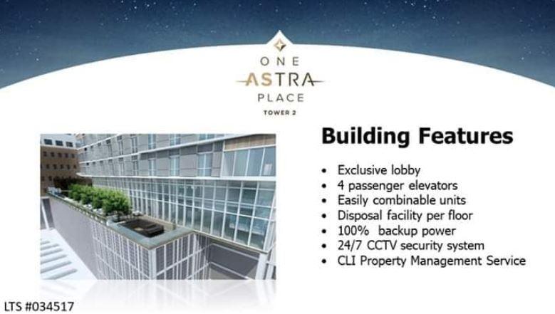 Astra Bldg. Features