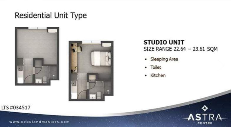 Astra Studio floor plan