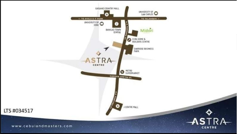 Astra Vicinity Map