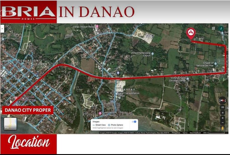 Bria Danao vicinity map