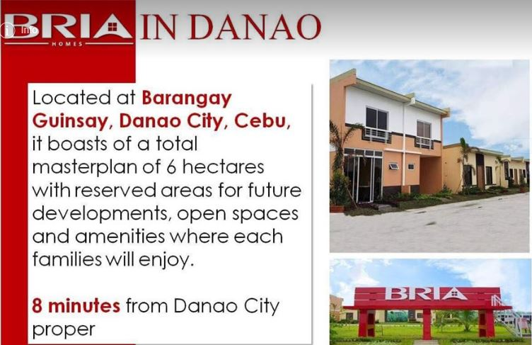 Bria Homes Danao location