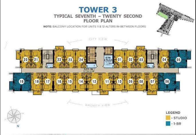 Casa Mira Towers Mandaue Tower 3 seventh floor plan