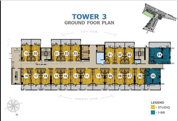 Casa Mira Towers Mandaue Tower 3 studio floor plan