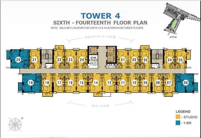 Casa Mira Towers Mandaue Tower 4 sixth floor plan