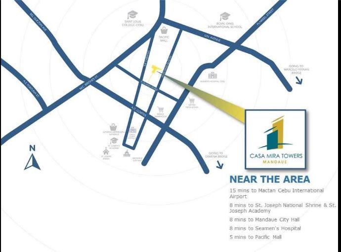 Casa Mira Towers Mandaue vicinity map