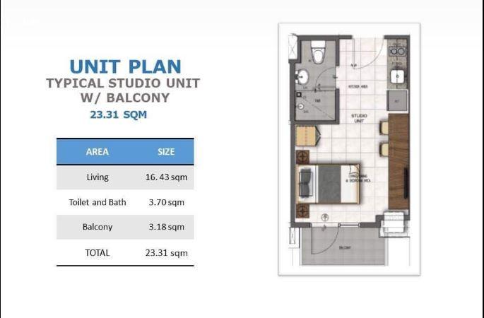 Casa Mira towers Mandaue studio floor plan